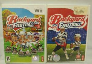 Tom Brady Backyard Football + 2010 Kidz Kids Hockey Nintendo Wii Wii U Games Lot