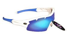 RayZor Uv400 Running Wrap Sunglasses 1 Piece Vented Blue Mirrored Lens RRP£49
