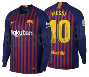 a2dd83ee6 Image is loading NIKE-LIONEL-MESSI-FC-BARCELONA-LONG-SLEEVE-HOME-