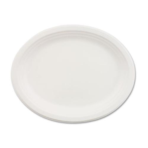 Huhtamaki VESPERCT Classic Paper Dinnerware, Oval Platter, 9 3 4 X 12 1 2,