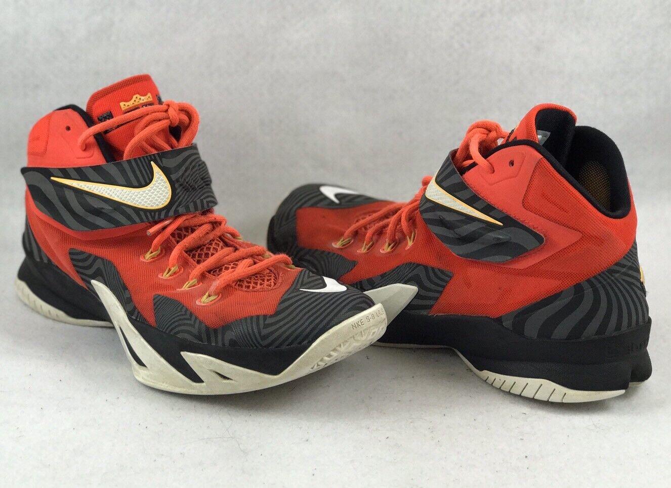 Nike Zoom Lebron Soldier VIII 688579 Black/Red Size 10.5 - 1199