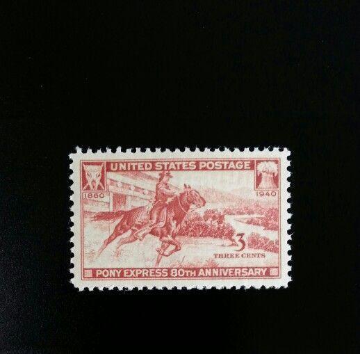 1940 3c Pony Express, 80th Anniversary Scott 894 Mint F