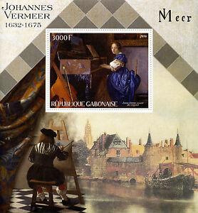 Gabon-2016-MNH-Johannes-Vermeer-1v-S-S-Art-Paintings-Stamps