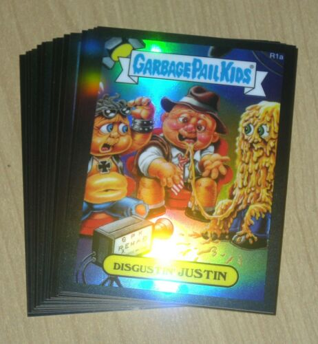 2014 Topps Garbage Pail GPK CHROME OS2 BLACK refractor Nutty NICOLE 99 50b