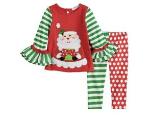 Rare Editions Christmas Toddler.Details About Rare Editions Toddler Girl Embroidered Christmas Santa Top Print Leggings 2t