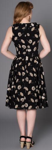 Sheen MIJA Vintage Mohn FLOWER Floral Buttoned SWING Dress Kleid Rockabilly