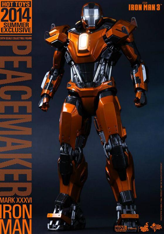Hot Toys Peacemaker Mk XXXVI-Iron XXXVI-Iron XXXVI-Iron Man 3 MMS258 UK 9d01e0