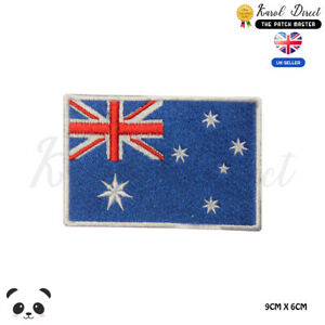 Australia-National-Flag-Embroidered-Iron-On-Sew-On-Patch-Badge-For-Clothes-etc