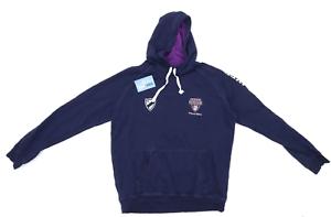 Preworn-homme-taille-M-en-coton-melange-bleu-volleyball-hoodie