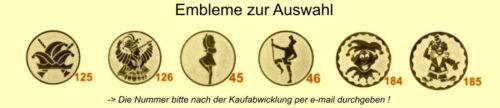 Karnevalsorden 50mm gold/bunt Köthen inkl.Emblem & Kordel nur 1,85 EUR/Stück Pokale & Preise
