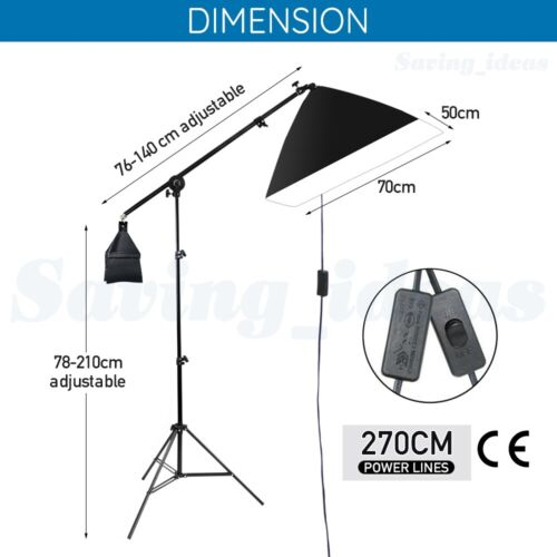 3425W Digital Video Photo Softbox Continuous Lighting Soft Box Light Stand Kit