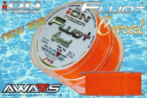 Carp Monofilament Fishing Line AWA SHIMA ION POWER Fluo 600m 3 Colors Japan