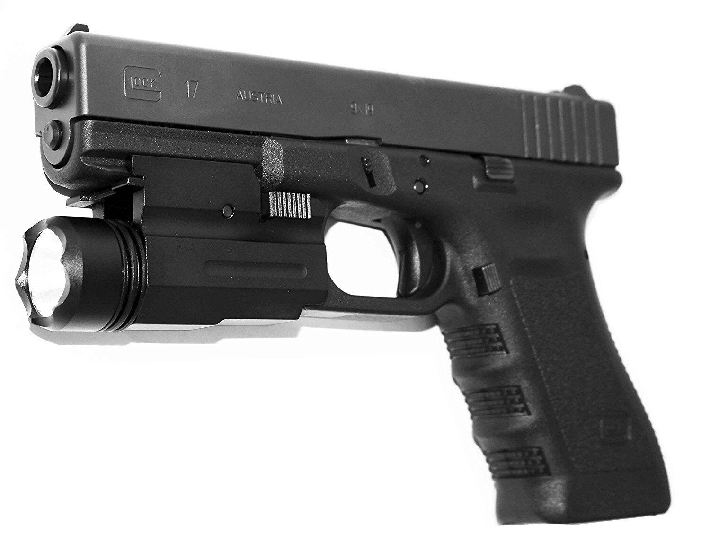 Trinity Weaver Mounted Flashlight for Glock 10 Gen10 Accessories Home  Defense BLK