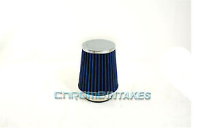 """BLUE 1990 UNIVERSAL 89mm 3.5/"""" INCHES AIR INTAKE FILTER"""