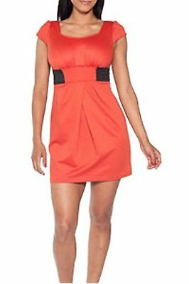 Orange cozy short sleeve dress