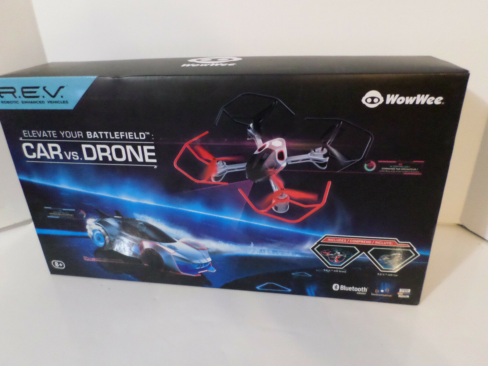 WowWee Robotic Enhanced Vehicle REV Air Car vs. Drone New in Box