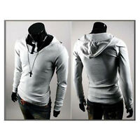 Fashion Mens Men V Neck Long Sleeve Hooded Casual Slim T-Shirt Tops Tee Shirts