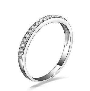 Image Is Loading 925 Sterling Silver Skinny Half Eternity Wedding Band
