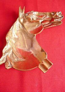 Vintage-Decorative-Solid-Brass-Horses-Head-Design-Tray