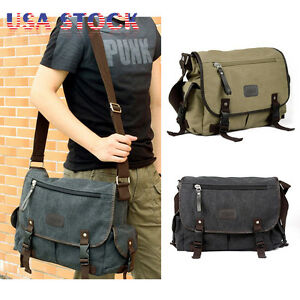 Messenger Bag School Shoulder Bag Men s Vintage Crossbody Satchel ... 82831d3b6919f
