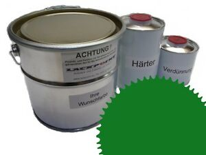 3 Liter Set 2K Floor Coating Ral 6029 Mint Green Shine Floor Color Workshop