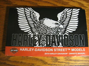 2018-Harley-Davidson-Street-500-750-Owner-039-s-Owners-Manual-NEW-in-Wrap-w-Cover