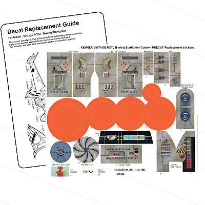 Replacement Sticker  Peel /& Stick Pre-Cut Vintage Star Wars Snowspeeder Orange