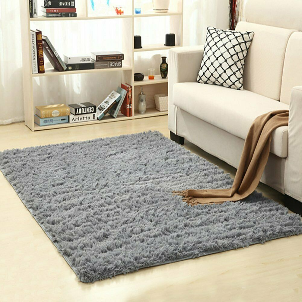 Fluffy Shag Area Rug Home Decor Bedroom Living Room Fuzzy Carpet Soft 4x5.3