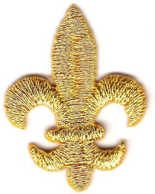 FLEUR DE LIS-GOLD METALLIC  (LG) - Iron On Embroidered Applique/Mardi Gras
