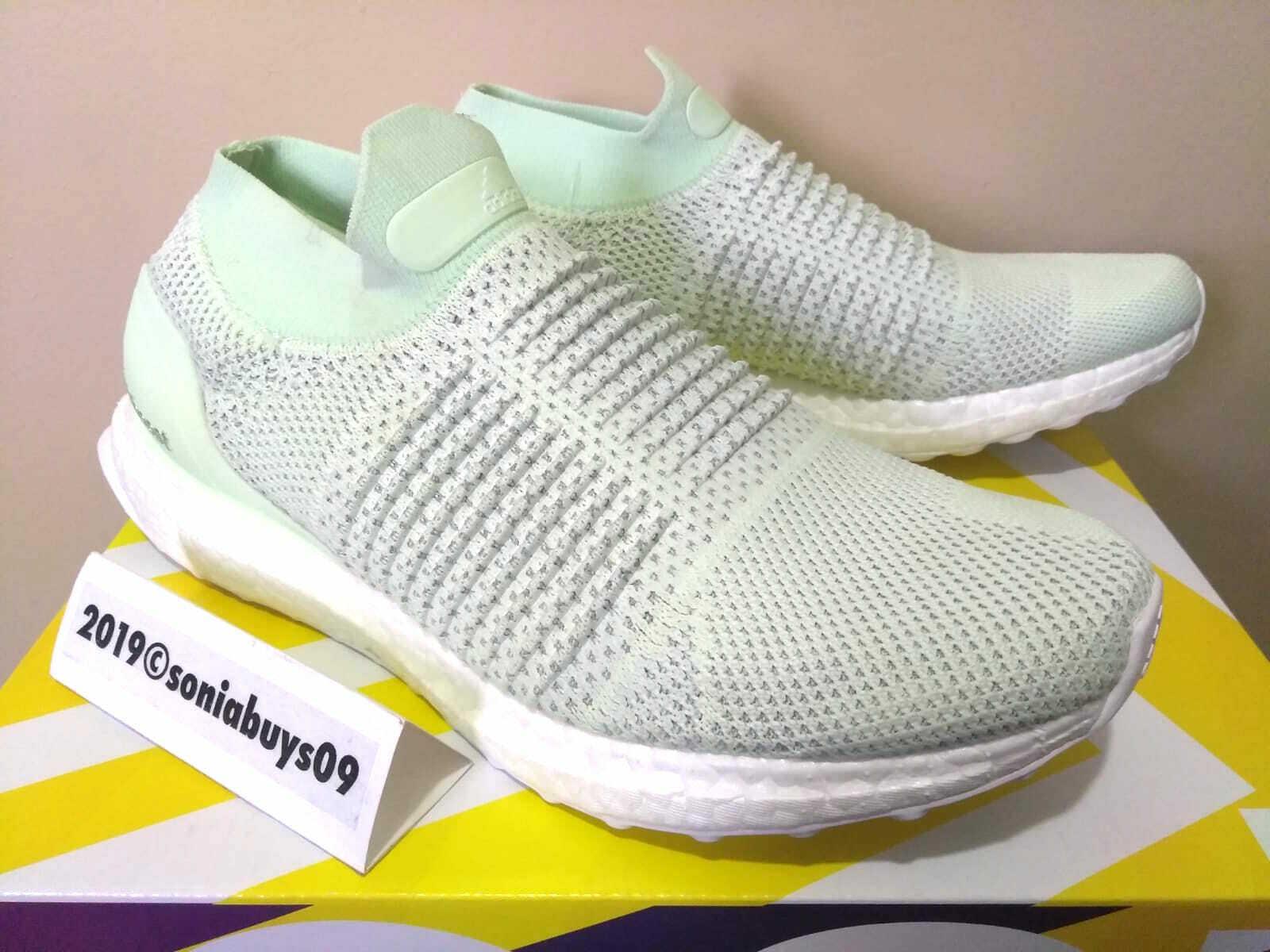 Adidas herrar Ultra Boost Laceless LTD skor, BB6223, Ash grön, US Storlek 7.5