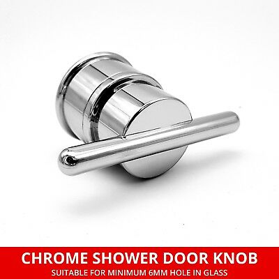 Pair of Chrome Shower Door Handles Suitable for Shower Enclosures 170mm Long 145mm Hole Centres HAND019