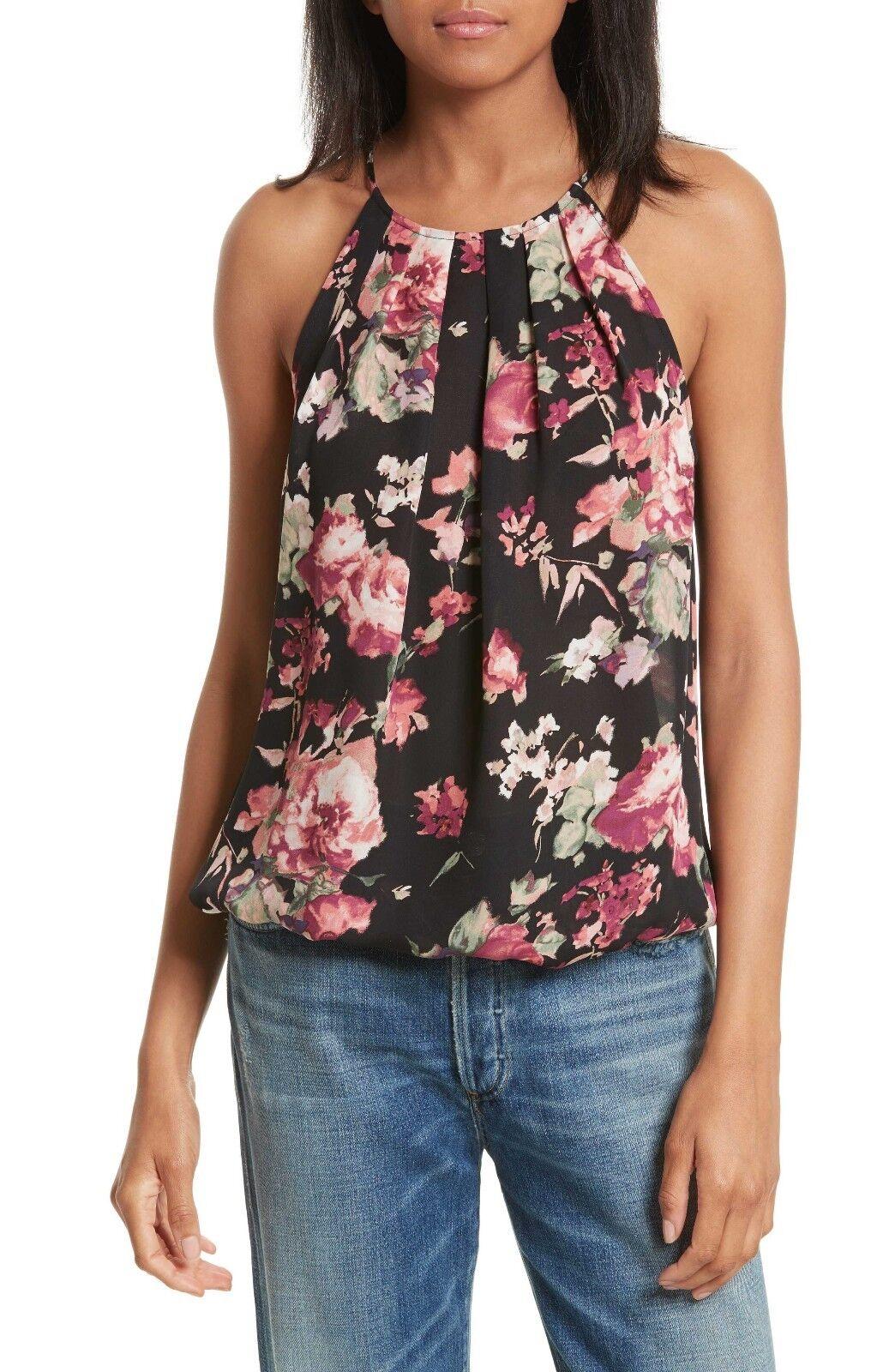 JOIE Anatase C Floral Print Sleeveless Silk Top, XSmall