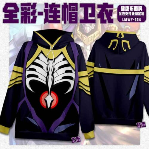 Anime Overlord Warmth Hooded Casual Sweatshirts Overcoat Coats Jackets #Pa37