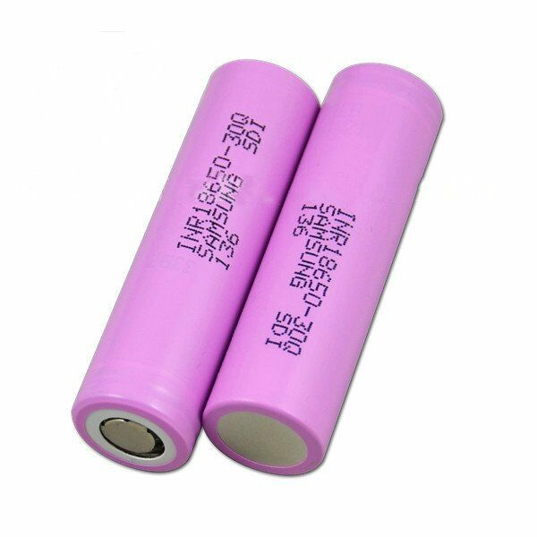 2 X Samsung INR 18650-30Q 3000mAh 20A Batteries in Protective Plastic Case