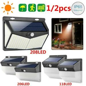 208LED-Solar-Pared-Luz-Movimiento-Sensor-Impermeable-Jardin-Iluminacion-Lampara