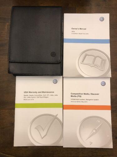 2016 VW Volkswagen Jetta Owner Manual  Set