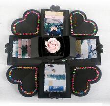 DIY Surprise Love Explosion Box ONEVER Love Memory Photo Album for Birthday Gift Anniversary Scrapbook Love Opend DIY Photo Album