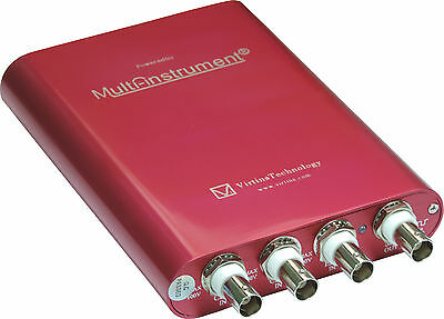 VT 200MHz 8~16Bit PC USB Oscilloscope Spectrum Analyzer AWG Signal Generator MSO