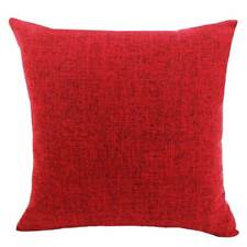 Plain Color Pillow Case Linen Cotton Cushion Cover Home Office Sofa Car Decor
