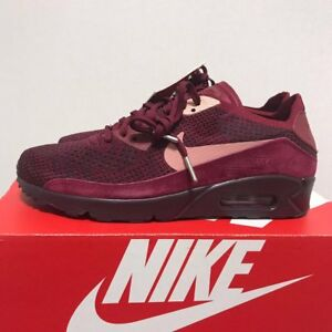 Details about Nike Air Max 90 Ultra 2.0 Flyknit Running Shoes Deep Red 875943 601 Men Sz7 13