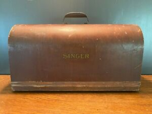 Vintage-Singer-Sewing-Machine-Bent-Wood-Cover-Case-Lid-with-Handle