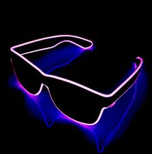 Purple Neon Sunglasses EDM Festival Party Cool Funky LED Light Up Sun Glasses
