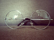 Harry Potter Silbern  Rund Überdimensional Metallrahmen Mode Brille 60s 80s