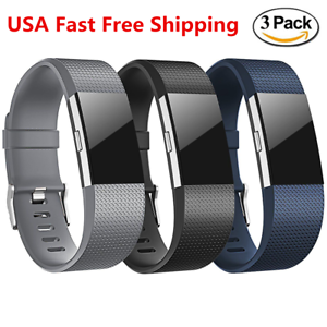 3-Pack-Replacement-Wristband-For-Fitbit-Charge-2-Band-Silicone-Fitness-Large-L