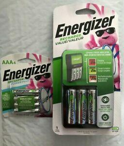 Energizer-Aufladen-Wert-Ladegeraet-mit-4-AA-und-4-AAA-Akkus-NEU