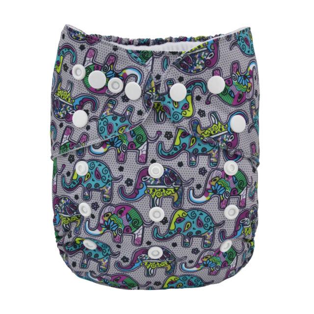 NEW Alva Baby Regular One size Reusable Pocket Cloth Diaper Nappy+1Insert YA118