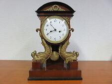 Empire / Biedermeier Pendule in Lyra-Form deutsch um 1800-1820 im Orig. Zustand