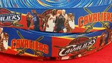 """CLEVELAND CAVALIERS GROSGRAIN RIBBON - LANYARDS - BOWS - SPORTS - 7/8""""X1YD"""