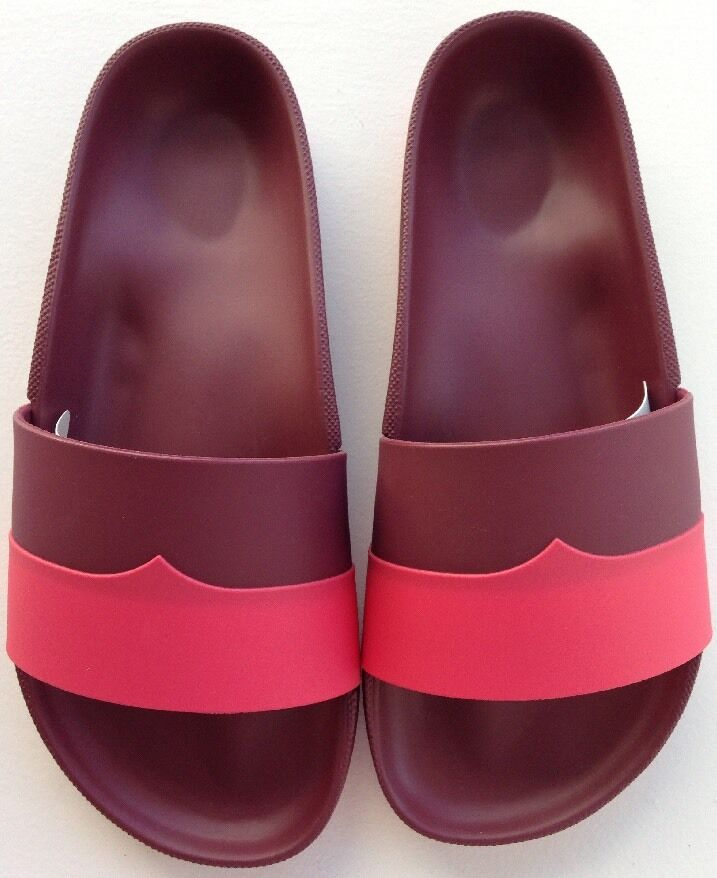 Hunter Damson & Watermelon Molded Flip Flops Size 6