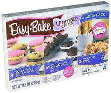 NEW EASY BAKE REFILL SUPER PACK OVEN MIX 12 MIXES, HASBRO ULTIMATE COOKIES CAKE